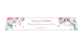 Falling Petals Wedding Personalised Toblerone Bar