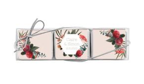 Wild Flowers Light Custom Mini Chocolate Trio Wedding Favour