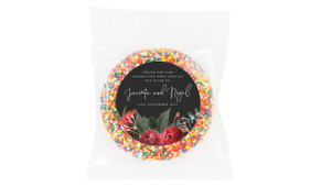 Wild Flowers Dark Personalised Giant Chocolate Freckle