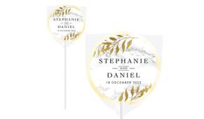 Marble & Fern Personalised Wedding Lollipops