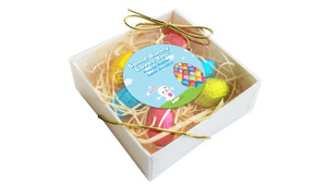 Perspective View - Big Egg Personalised Easter Egg Nest Box