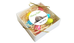 Perspective - Floppy Eared Rabbit Personalised Easter Egg Nest Box