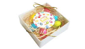 Watercolour Eggs Personalised Easter Egg Nest Box