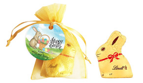 Bunny And Basket Personalised Easter Bunny Bag