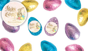 Beautiful Bunny Personalised Chocolate Half Easter Eggs