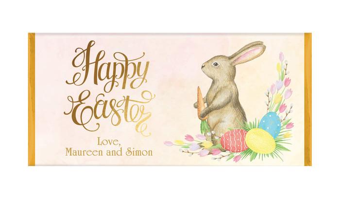Beautiful Bunny Personalised Easter Chocolates