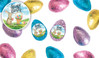 Bunny And Basket Personalised Chocolate Half Easter Eggs