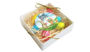 Perspective - Bunny And Basket Personalised Easter Egg Nest Box