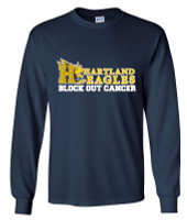 Hartland Eagles Cancer Long Sleeve Tee