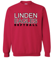 LHS Softball Unisex Crew Neck Sweatshirt