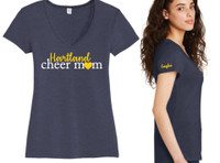 HAYAA Cheer Mom Vintage V-Neck