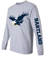 Hartland Unisex Sport Grey Long Sleeve Tee