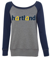 Hartland Eagles Raglan Wide Neck Sweatshirt