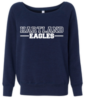 Hartland Eagles Women's Wide Neck Sweatshirt