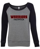 Warrior Raglan Wide Neck Sweatshirt