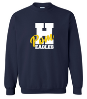 Hartland Eagles Pom Crew Neck Sweatshirt
