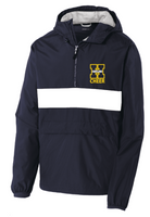 Navy & White Windbreaker