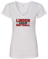 LHS Softball Ladies V-Neck Tee