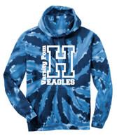 HHS Pom Tie Dye Hoodie Varsity