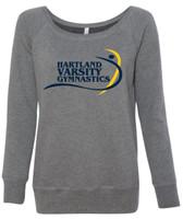 HHS Gymnastics Women's Wide Neck Sweatshirt