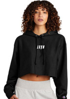 NAST Champion Cropped Upside Down Logo Hoodie
