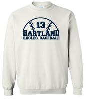 Hartland Eagles Baseball Unisex Crew Neck Sweatshirt