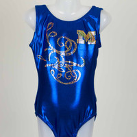 Scoop Back Ocean Mystique Tank Leotard