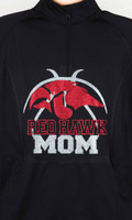 Red Hawk Basketball 1/4 Zip