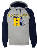 Jerzees - Nublend Colorblocked Raglan Hooded Sweatshirt