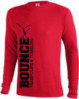 Bounce Long Sleeve Unisex Ringspun Tee