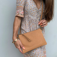 Perforated Cross Body - Natural