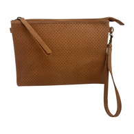Perforated Cross Body - Tan