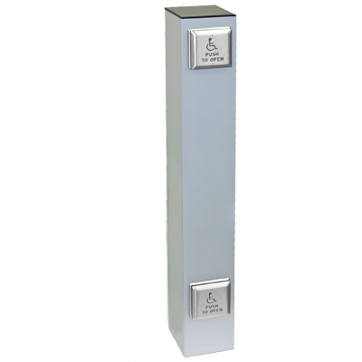 Wireless 42 Quot X 6 Quot Square Double Push Plate Bollard Careprodx