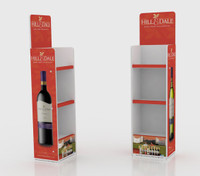 3 Tier Wine bottle display unit 433mm W x 321mm D x 1550mm H