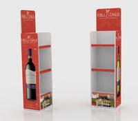 3 Tier Wine bottle display unit 433mm W x 321mm D x 1550mm H