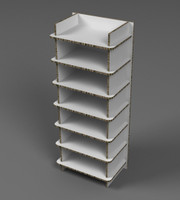 Shelving unit 600mm (w) x 440mm (d) x 1512mm (h)
