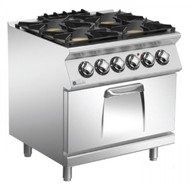 Mareno ANC7FE8G24 Star 70 Series 8 4 Burner Gas Range With Electric Oven. Weekly Rental $66.00