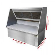 EXHOOD1800 Ductless Exhaust Hood System 1800mm. Weekly Rental $82.00