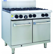 Luus - RS-6B. Professional Series.  Gas Six Burner With Oven. Weekly Rental $61.00