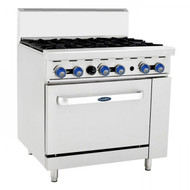 CookRite AT0-6B-F. Gas Six Burner With Oven. Weekly Rental $35.00