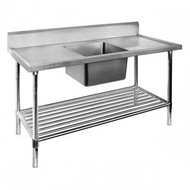 Single Centre Sink Bench with Pot Undershelf SSB7-1800C/A. Weekly Rental $11.00