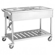 BMT3H Three Pan Heated Food Service Cart. Weekly Rental $12.00