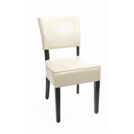 GF958 - Chunky Faux Leather Chairs Cream (Pack of 2)