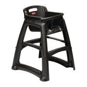 GG477 - Rubbermaid Sturdy Black High Chair