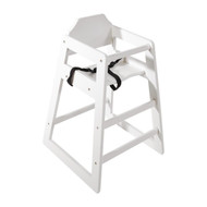 DL833 - Wooden High Chair Antique White Finish