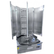 4B1VR-S. Gas Four Burner Infrared Vertical Rotisserie - Swing Model . Weekly Rental $26.00