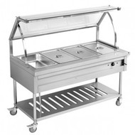 BST4H Heated Four Pan Food Service Cart. Weekly Rental $18.00
