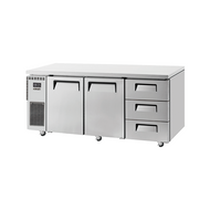 Skipio - SUR18-3D-3 - Undercounter Two Door + Three Draw Refrigerator. Weekly Rental $37.00