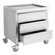Stainless Steel Mobile Work Stand with 3 Drawers