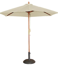 Bolero Round Cream Outdoor Umbrella 2.52m high (MEDIUM)